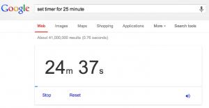 Google Search Timer Copy
