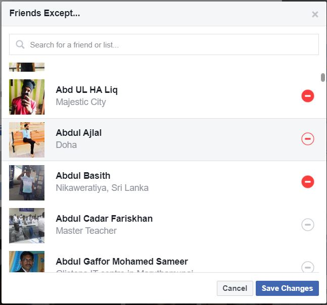 3 - How to restrict friends from seeing what you share on Facebook