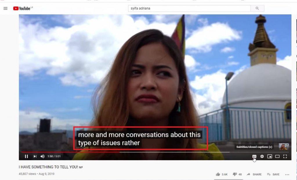 translate Youtuibe video CC