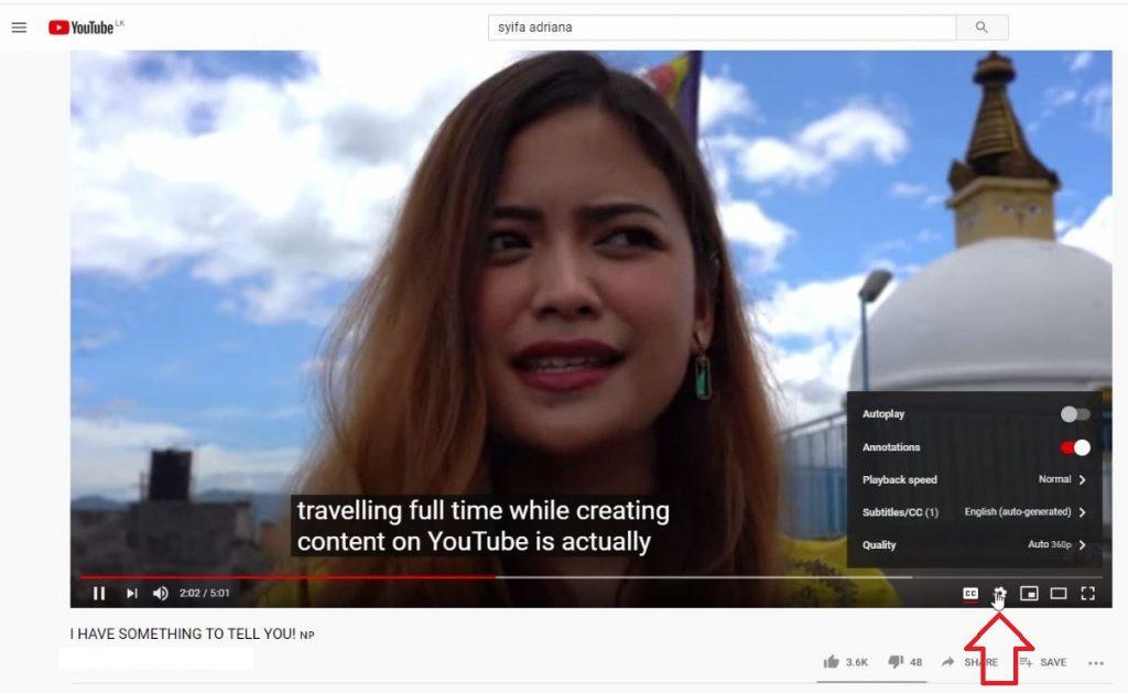 translate Youtibe video CC