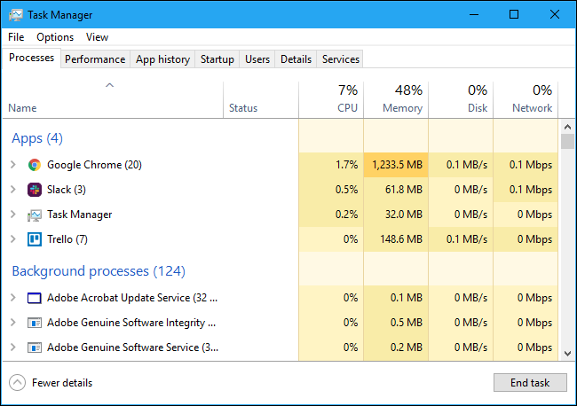 How to See Which Programs Are Using All Your Memory on Windows